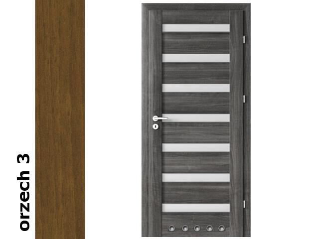 Drzwi okleinowane Dur orzech 3 D7 80 prawe blokada wc tuleje zawiasy srebrne Verte
