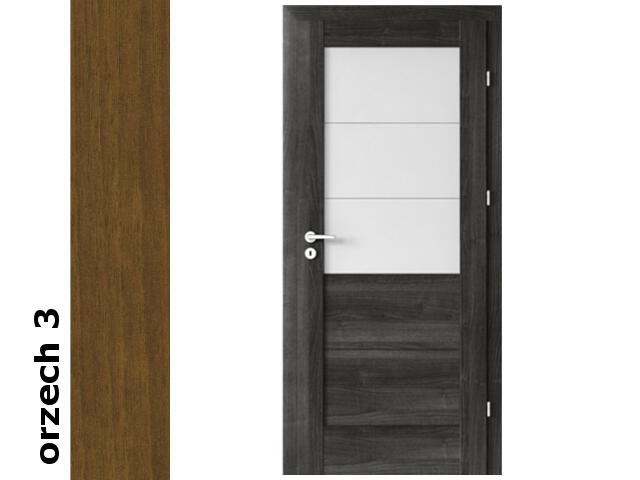 Drzwi okleinowane Dur orzech 3 B3 80 lewe zamek patent zawiasy złote Verte