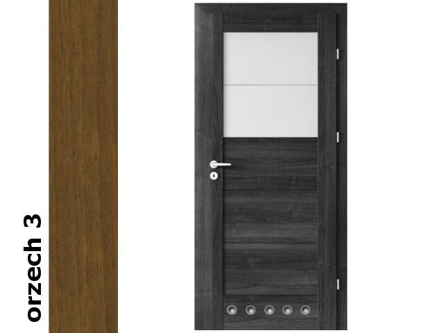 Drzwi okleinowane Dur orzech 3 B2 80 prawe blokada wc tuleje zawiasy srebrne Verte
