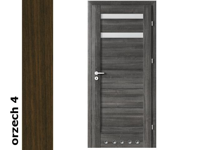 Drzwi okleinowane Dur orzech 4 D2 80 prawe blokada wc tuleje zawiasy złote Verte