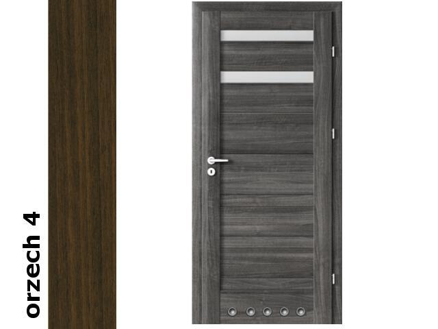 Drzwi okleinowane Dur orzech 4 D2 60 prawe blokada wc tuleje zawiasy srebrne Verte
