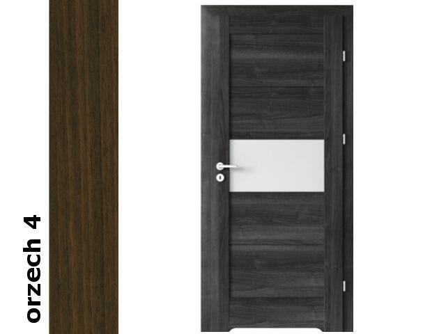 Drzwi okleinowane Dur orzech 4 B6 80 prawe bl. wc podcięcie went. zaw. srebrne Verte