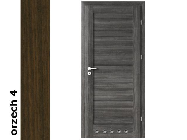 Drzwi okleinowane Dur orzech 4 D0 80 lewe blokada wc tuleje zawiasy srebrne Verte