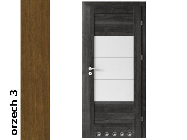 Drzwi okleinowane Dur orzech 3 B7 60 lewe blokada wc tuleje zawiasy srebrne Verte