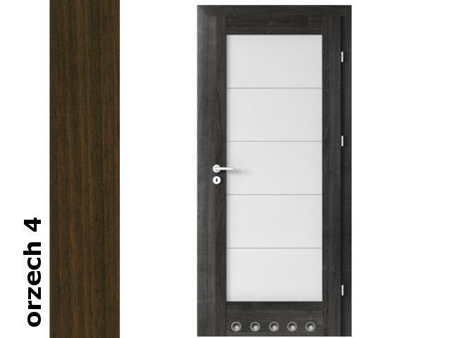 Drzwi okleinowane Dur orzech 4 B5 80 prawe blokada wc tuleje zawiasy srebrne Verte