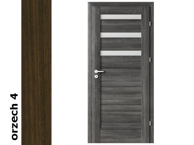 Drzwi okleinowane Dur orzech 4 D3 80 prawe blokada wc zawiasy srebrne Verte