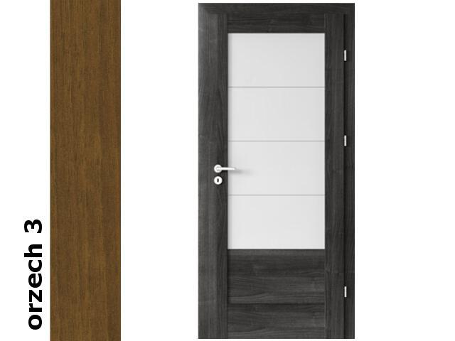 Drzwi okleinowane Dur orzech 3 B4 80 prawe zamek oszcz. zawiasy srebrne Verte