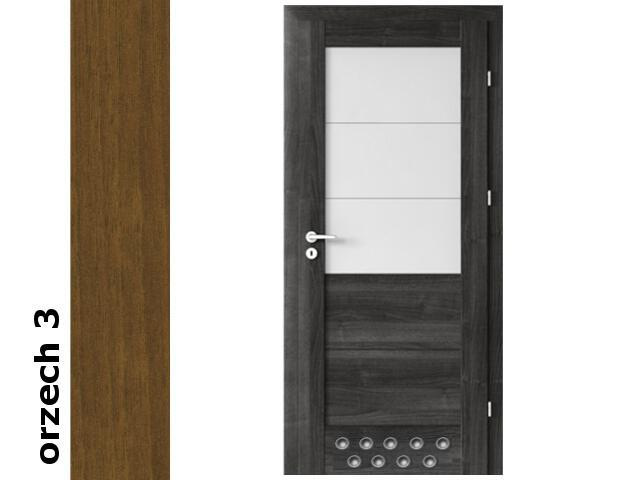 Drzwi okleinowane Dur orzech 3 B3 80 prawe zamek oszcz. 2 x tuleje zaw. srebrne Verte
