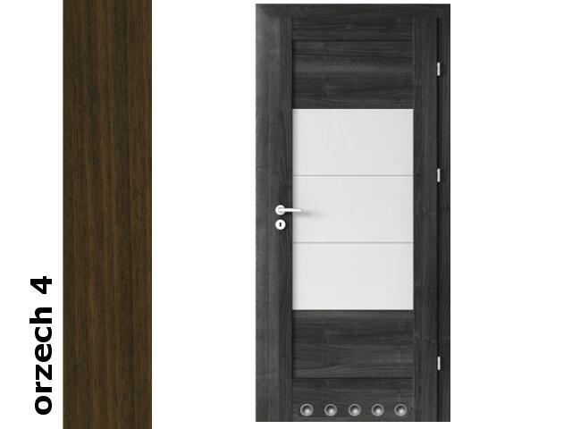 Drzwi okleinowane Dur orzech 4 B7 80 prawe blokada wc tuleje zawiasy srebrne Verte