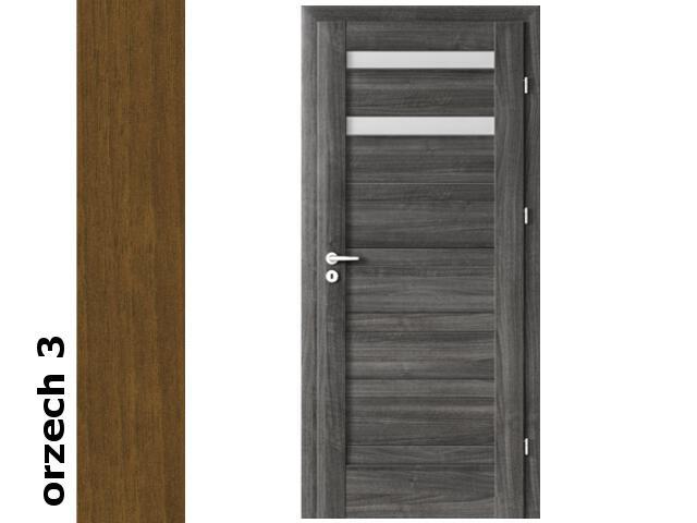 Drzwi okleinowane Dur orzech 3 D2 80 prawe zamek patent zawiasy srebrne Verte