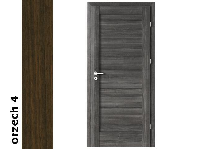 Drzwi okleinowane Dur orzech 4 D0 80 lewe zamek patent zawiasy srebrne Verte