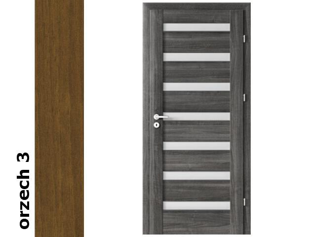 Drzwi okleinowane Dur orzech 3 D7 80 prawe zamek patent zawiasy srebrne Verte