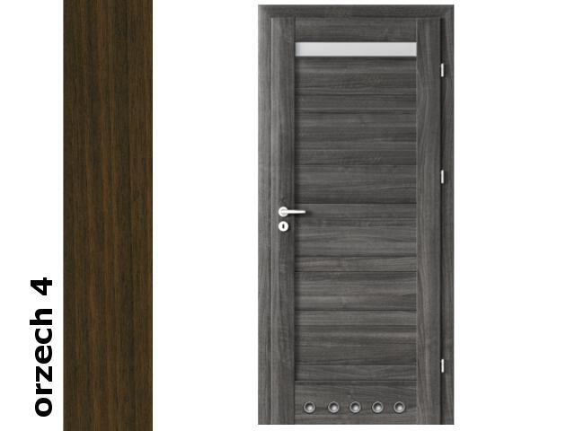 Drzwi okleinowane Dur orzech 4 D1 80 prawe blokada wc tuleje zawiasy srebrne Verte