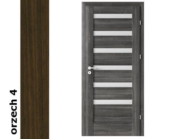 Drzwi okleinowane Dur orzech 4 D6 80 prawe blokada wc zawiasy srebrne Verte