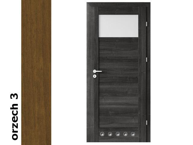 Drzwi okleinowane Dur orzech 3 B1 80 lewe zamek patent tuleje zawiasy złote Verte