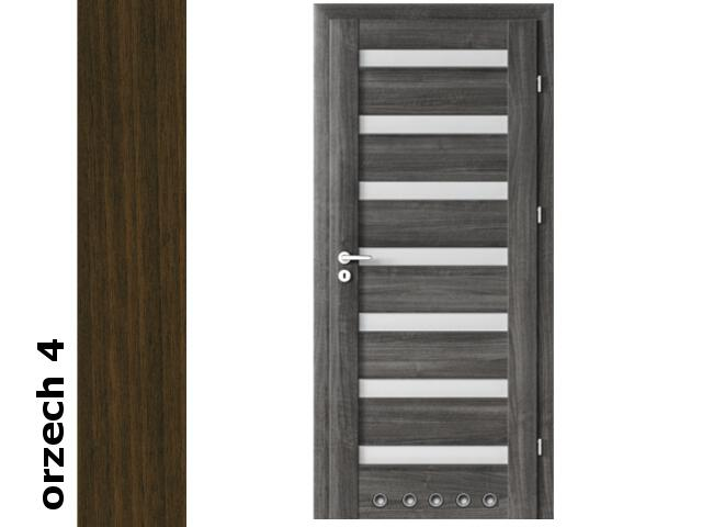 Drzwi okleinowane Dur orzech 4 D7 70 prawe zamek oszcz. tuleje zawiasy srebrne Verte