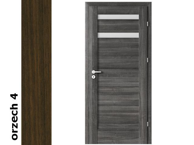 Drzwi okleinowane Dur orzech 4 D2 80 prawe blokada wc zawiasy srebrne Verte