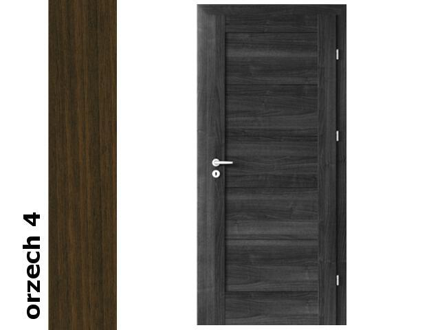 Drzwi okleinowane Dur orzech 4 B0 70 prawe zamek patent zawiasy srebrne Verte