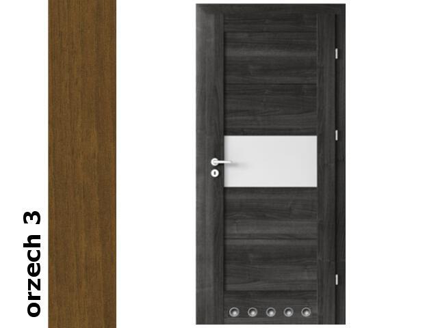 Drzwi okleinowane Dur orzech 3 B6 80 prawe blokada wc tuleje zawiasy złote Verte