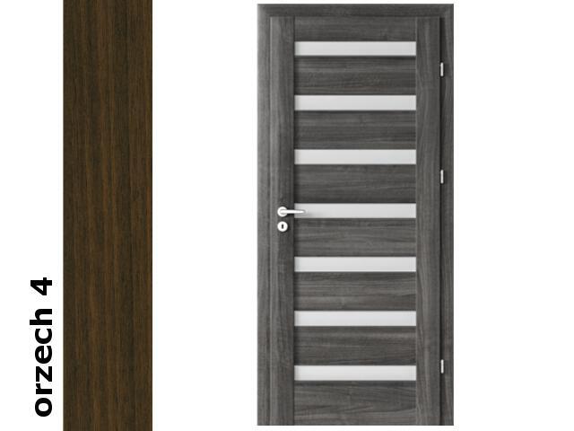Drzwi okleinowane Dur orzech 4 D7 80 lewe bierne zawiasy srebrne rygiel Verte