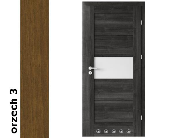Drzwi okleinowane Dur orzech 3 B6 80 prawe blokada wc tuleje zawiasy srebrne Verte