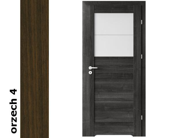 Drzwi okleinowane Dur orzech 4 B2 80 prawe blokada wc podc.went. zawiasy złote Verte