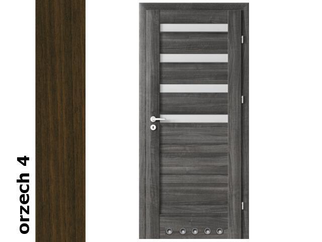 Drzwi okleinowane Dur orzech 4 D4 80 prawe blokada wc tuleje zawiasy srebrne Verte