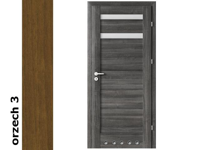 Drzwi okleinowane Dur orzech 3 D2 70 prawe blokada wc tuleje zawiasy złote Verte
