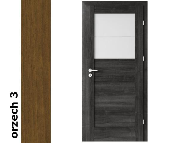 Drzwi okleinowane Dur orzech 3 B2 80 lewe zamek oszcz. zawiasy srebrne Verte