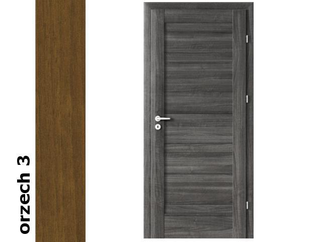 Drzwi okleinowane Dur orzech 3 D0 80 prawe zamek patent zawiasy srebrne Verte