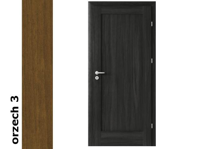 Drzwi okleinowane Dur orzech 3 E0 60 prawe zawiasy srebrne Verte