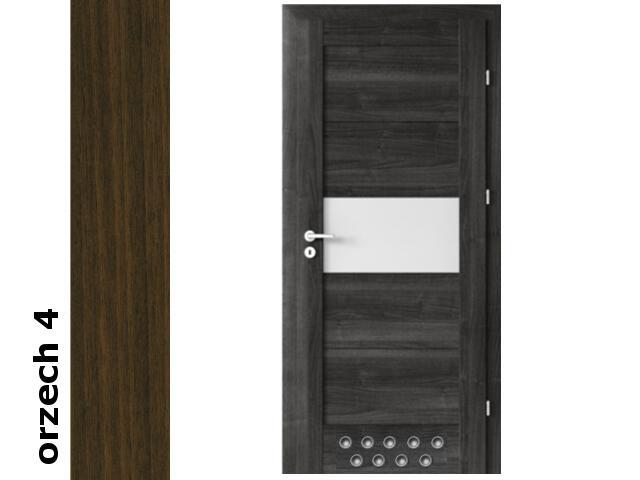 Drzwi okleinowane Dur orzech 4 B6 80 lewe blokada wc 2 x tuleje zawiasy srebrne Verte