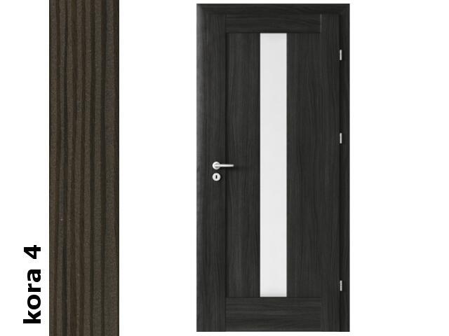 Drzwi okleinowane Cortex kora 4 E4 80 lewe zamek oszcz. zawiasy srebrne Verte