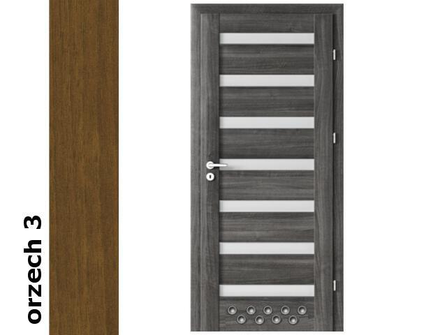 Drzwi okleinowane Dur orzech 3 D7 70 prawe blokada wc 2 x tuleje zawiasy srebrne Verte