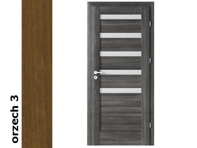 Drzwi okleinowane Dur orzech 3 D5 70 prawe bierne zawiasy złote rygiel Verte