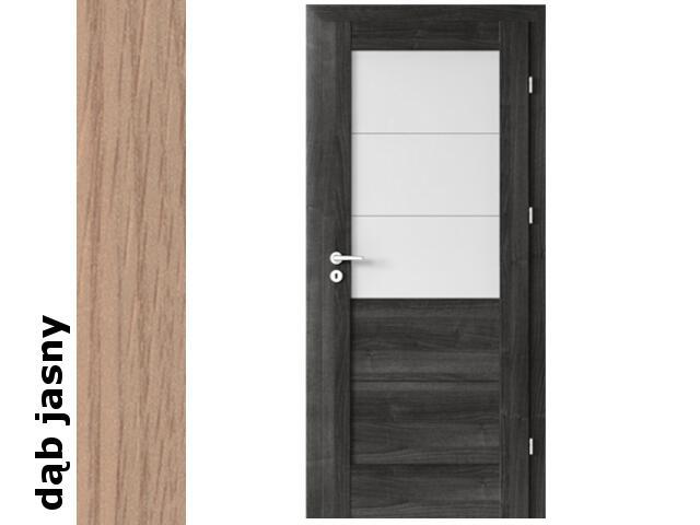 Drzwi okleinowane Decor dąb jasny B3 80 prawe zamek oszcz. zawiasy srebrne Verte