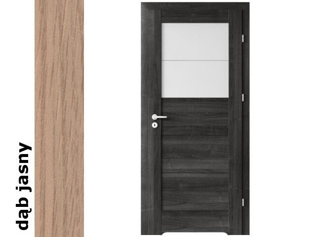 Drzwi okleinowane Decor dąb jasny B2 80 prawe blokada wc podc.went. zaw. srebrne Verte