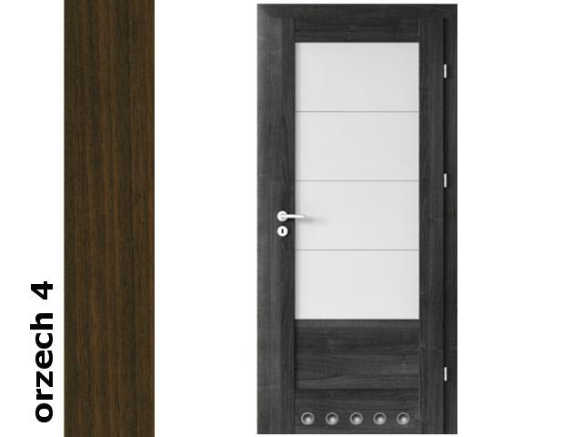 Drzwi okleinowane Dur orzech 4 B4 80 prawe zamek patent tuleje zawiasy srebrne Verte