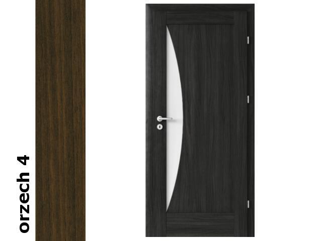 Drzwi okleinowane Dur orzech 4 E3 80 lewe zawiasy srebrne Verte