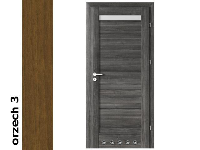 Drzwi okleinowane Dur orzech 3 D1 70 prawe blokada wc tuleje zawiasy srebrne Verte