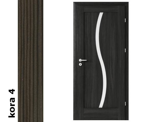 Drzwi okleinowane Cortex kora 4 E1 80 prawe zawiasy srebrne Verte