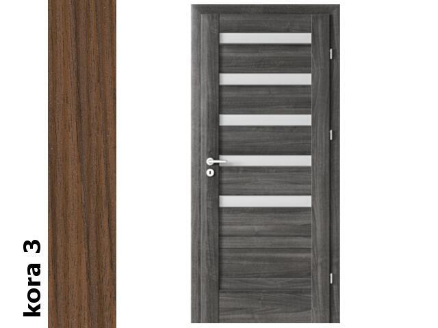 Drzwi okleinowane Cortex kora 3 D5 80 prawe zawiasy srebrne Verte