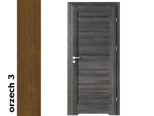 Drzwi okleinowane Dur orzech 3 D0 70 prawe podcięcie went. zawiasy srebrne Verte