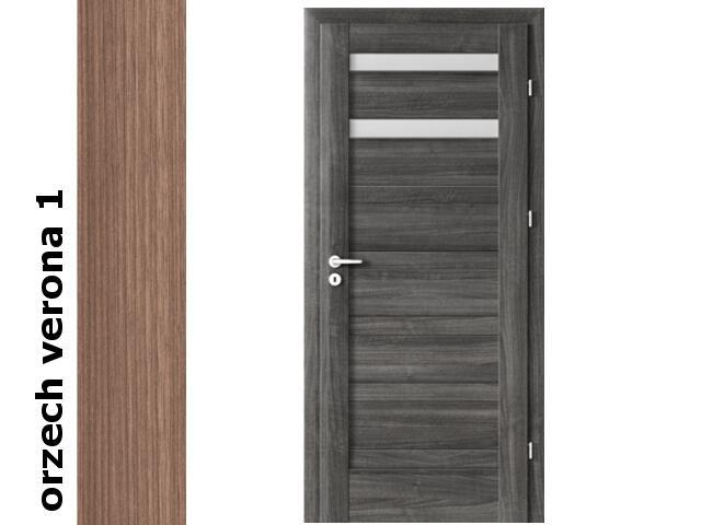 Drzwi okleinowane Decor orzech 1 D2 80 lewe zawiasy złote Verte