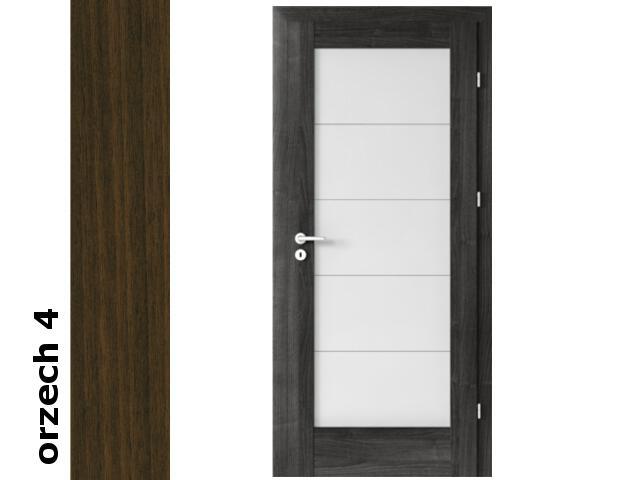 Drzwi okleinowane Dur orzech 4 B5 90 prawe zamek patent zawiasy srebrne Verte