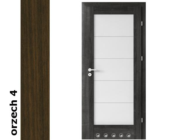 Drzwi okleinowane Dur orzech 4 B5 90 prawe blokada wc tuleje zawiasy srebrne Verte