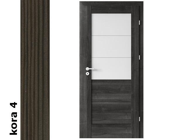 Drzwi okleinowane Cortex kora 4 B3 80 prawe zawiasy srebrne Verte