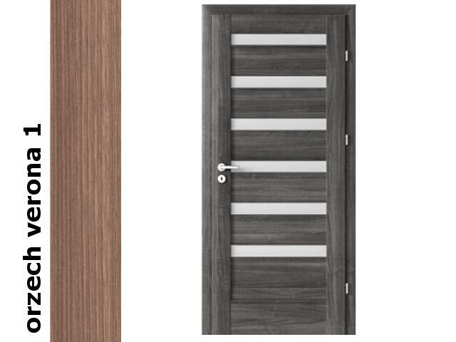 Drzwi okleinowane Decor orzech 1 D6 80 lewe zawiasy złote Verte