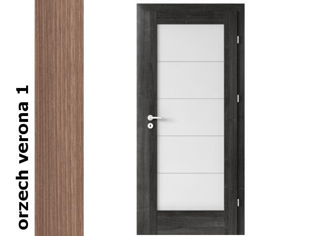Drzwi okleinowane Decor orzech 1 B5 80 prawe zamek oszcz. zawiasy srebrne Verte