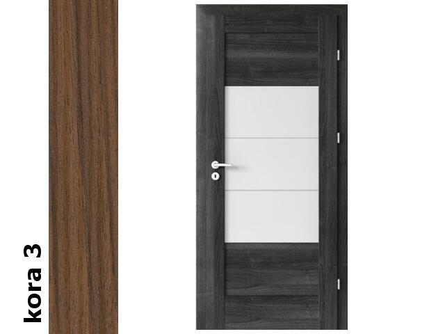 Drzwi okleinowane Cortex kora 3 B7 80 lewe zamek oszcz. zawiasy srebrne Verte